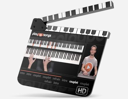 Vos cours de piano en vidéo HD