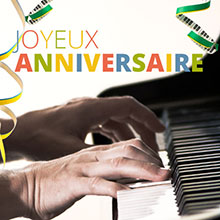 apprendre Joyeux anniversaire au piano