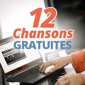 12 chansons gratuites au piano