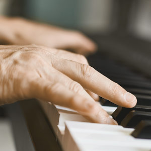 En arpège au piano